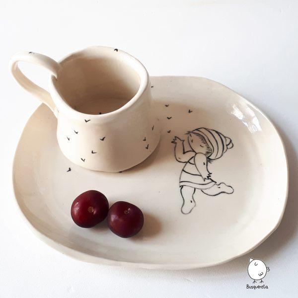 taza y bandeja